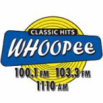Logo da emissora Radio WUPE Whoopee 100.1 FM