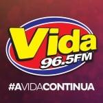 Logo da emissora Rádio Vida 96.5 FM