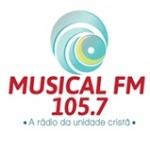 Logo da emissora Rádio Musical 105.7 FM