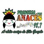 Logo da emissora Rádio Princesa dos Anacés 98.7 FM