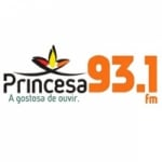 Logo da emissora Rádio Princesa 93.1 FM