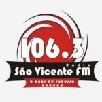 Logo da emissora Rádio São Vicente 106.3 FM