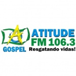 Logo da emissora Rádio Atitude FM 106.3 FM