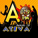 Logo da emissora Rádio Ativa 87.9 FM