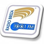 Logo da emissora Rádio Breza 100.1 FM