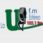 Logo da emissora Radio La U 102.1 FM