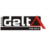 Logo da emissora Rádio Delta 104.9 FM