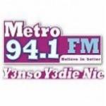 Logo da emissora Rádio Metro 94.1 FM