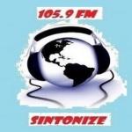 Logo da emissora R�dio Rainha 105.9 FM