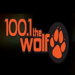 Logo da emissora WVMD 100.1 FM The Wolf