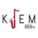 Logo da emissora KJEM 89.9 FM Jazz from