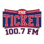 Logo da emissora KLSZ 100.7 FM The Ticket