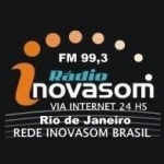 Logo da emissora Rádio Inovasom 99.3 FM