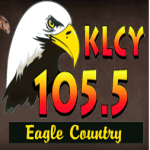 Logo da emissora KLCY 105.5 FM Eagle Country