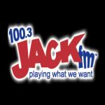 Logo da emissora KJKK 100.3 FM Jack