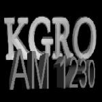 Logo da emissora KGRO 1230 AM