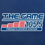 Logo da emissora KJZN 105.5 FM The Game