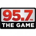 Logo da emissora KGMZ 95.7 FM The Game