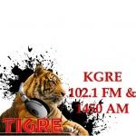 Logo da emissora KRKY 930 AM