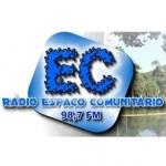Logo da emissora Rádio Espaço Comunitário 98.7 FM