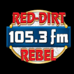 Logo da emissora KJDL 105.3 FM The Red Dirt Rebel