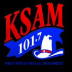 Logo da emissora KSAM 101.7 FM