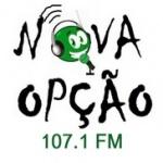 Logo da emissora Radio Nova Opção FM 107.1