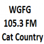 Logo da emissora WGFG 105.3 FM Cat Country