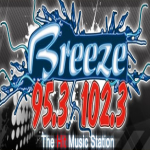 Logo da emissora KLJT The Breeze 102.3 FM