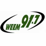 Logo da emissora Radio WEEM 91.7 FM