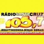 Logo da emissora Rádio Santa Cruz 105.7 FM