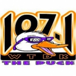 Logo da emissora Radio WTDK The Duck 107.1 FM