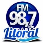 Logo da emissora R�dio Litoral 98.7 FM