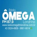 Logo da emissora Rádio Ômega 87.9 FM