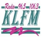 Logo da emissora KLFM 96.5 FM 3EON