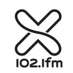 Logo da emissora LA X 102.1 FM