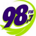 Logo da emissora Rádio Apuiares 98.7 FM