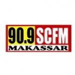 Logo da emissora SCFM Makassar 90.9 FM