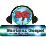 Logo da emissora Rádio Santaluz Gospel