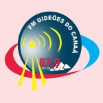 Logo da emissora R�dio Gide�es do Cana� 87.9 FM