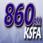 Logo da emissora KSFA 860 AM