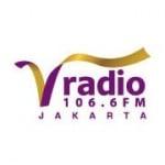Logo da emissora V Radio 106.6 FM