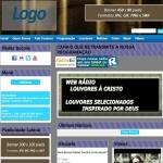Logo da emissora Web Rádio Louvores a Cristo