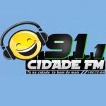 Logo da emissora Rádio Cidade 91.1 FM