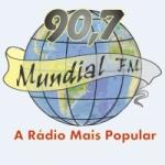 Logo da emissora Rádio Mundial 90.7 FM