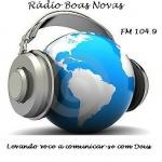 Logo da emissora Rádio Boas Novas FM 104,9