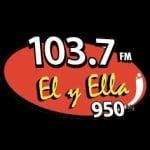 Logo da emissora Radio El y Ella 103.7 FM