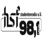 Logo da emissora HSF Student 98.1 FM