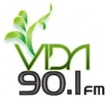 Logo da emissora Estereo Vida 90.1 FM