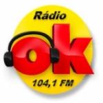Logo da emissora Rádio OK 104.1 FM